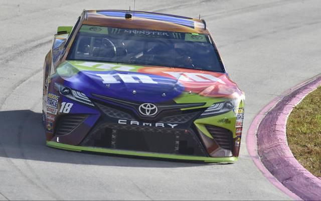 Vierte Pole-Position 2018 und erste in den Playoffs für Kyle Busch (Gibbs-Toyota)