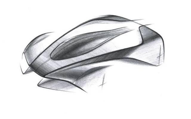 Der bislang einzige Hinweis auf das neue Hypercar ist bislang diese Zeichnung