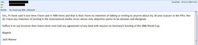 E-Mail von Jack Warner