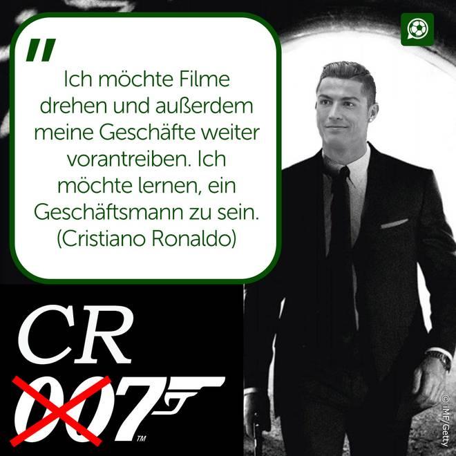 Cristiano Ronaldo kann sich eine Karriere als Schauspieler vorstellen