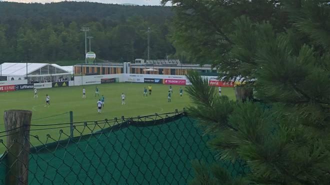 Auf diesem Foto ist das Testspiel des DFB-Teams zu sehen