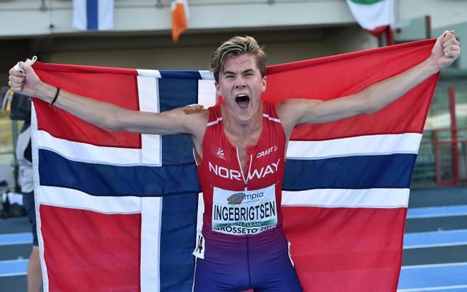Jakob Ingebrigtsen wurde 2017 U20-Europameister im Hindernislauf