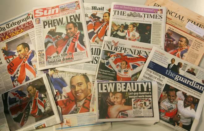 Lewis Hamilton: Sein dramatisches erstes Mal in der Formel 1 So feierte 2008 die englische Presse den neuen Weltmeister Lewis Hamilton