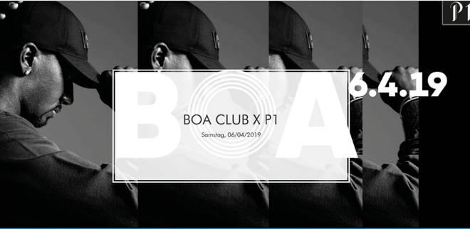 Flyer der Party BOA CLUB X P1