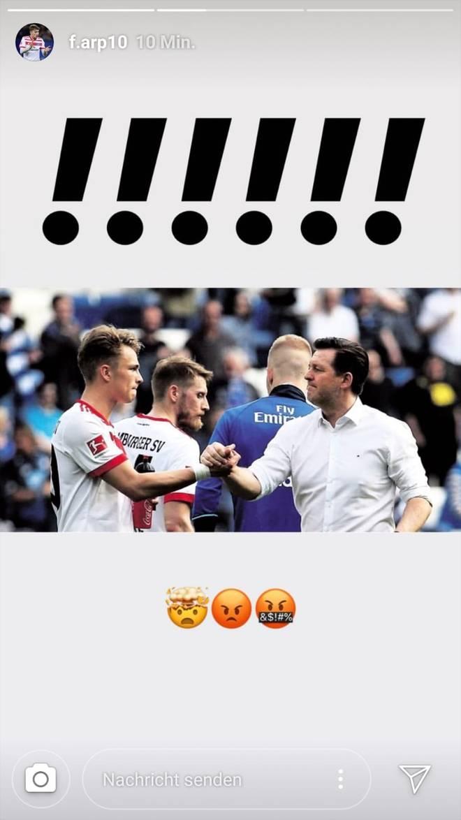 Jann-Fiete Arp ist über den Trainerwechsel offenbar nicht begeistert