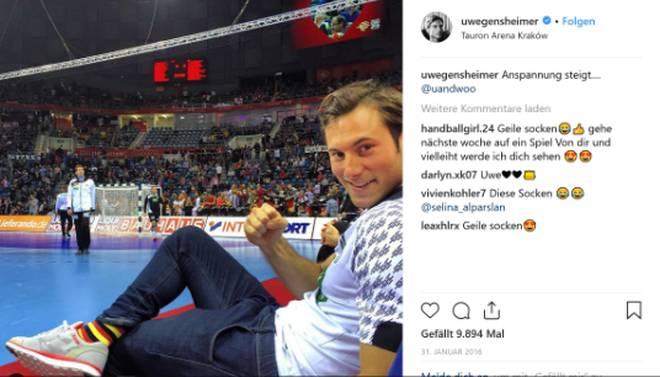 Trotz Tribünenplatz - Uwe Gensheimer hat beim EM-Titel 2016 mitgefiebert