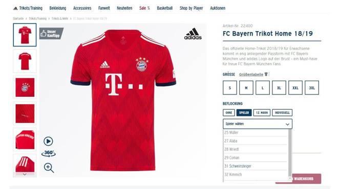 Vor der kommenden Saison ist das Trikot des FC Bayern auch mit dem Namen Schweinsteiger erhältlich