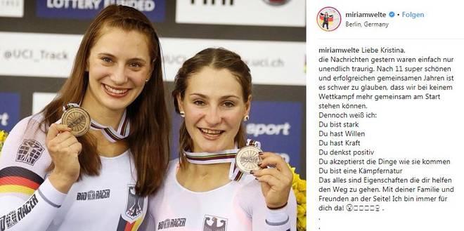 Miriam Welte (l.) und Kristina Vogel waren elf Jahre lang ein eingespieltes Team