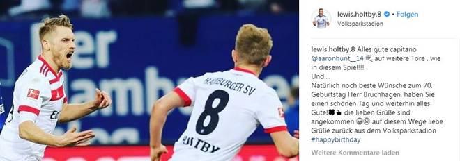 So reagierte Holtby bei Instagram auf die Bruchhagen-Kritik