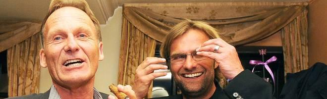 Hans-Joachim Watzke - hier nach Jürgen Klopps erster BVB-Meisterschaft 2011 - feiert seinen 60. Geburtstag