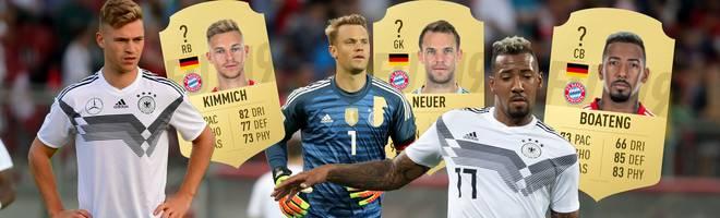 Mit der Niederlande und Frankreich warten keine leichte Aufgaben auf die DFB-Elf. Doch wie stark ist die Nationalmannschaft im aktuellen FIFA 19 und wie schneiden Kimmich, Neuer, Boateng in FIFA 19 ab? SPORT1 präsentiert die Nationalmannschaft im Check