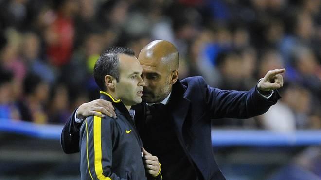 Andres Iniesta und Pep Guardiola arbeiteten bereits beim FC Barcelona zusammen