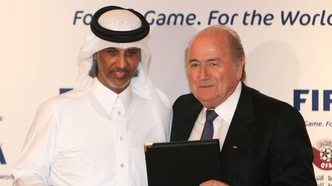 FIFA president Sepp Blatter-Scheich al-Thani