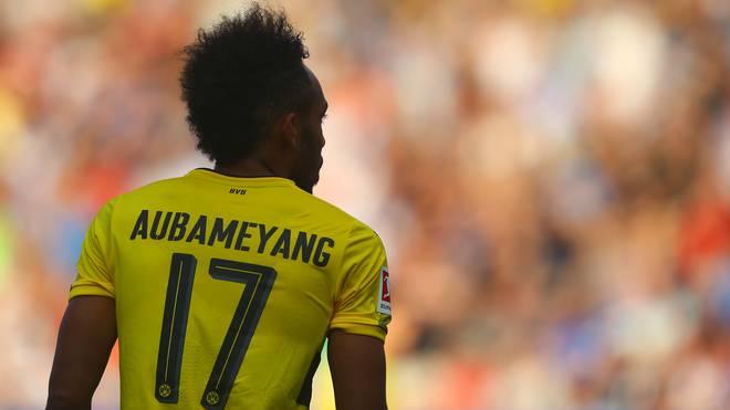 Pierre-Emerick Aubameyang von Borussia Dortmund wird mit einem Transfer nach China in Verbindung gebracht
