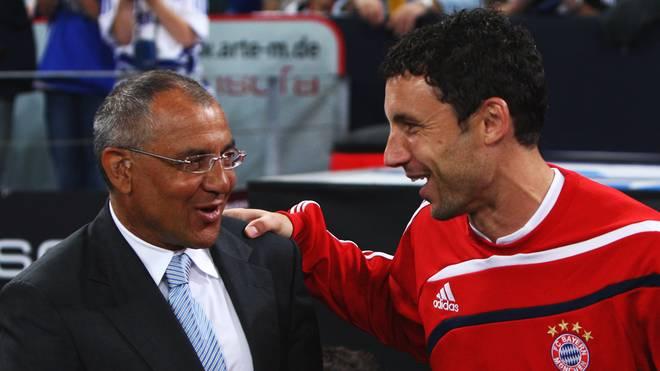 Felix Magath (l.) und Mark van Bommel arbeiteten einst als Trainer und Spieler beim FC Bayern zusammen