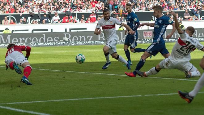 Lewis Holtby trifft für den Hamburger SV