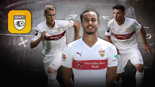 Timo Baumgartl (l.), Jerome Kiesewetter (M.) und Arianit Ferati sind die Zukunft beim VfB Stuttgart