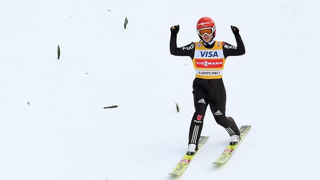 Katharina Althaus wurde beim Weltcup in Sapporo Zweite