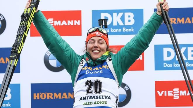 Laura Dahlmeier hat den Weltcup in Antholz gewonnen