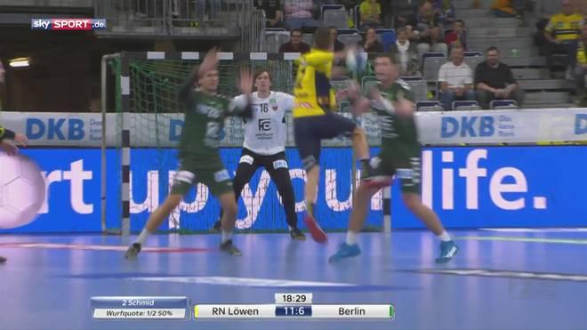 HBL: Rhein-Neckar Löwen - Füchse Berlin (28:25): Highlights im Video