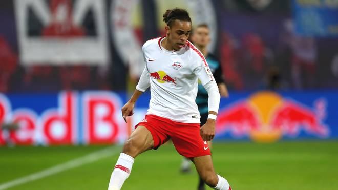 Yussuf Poulsen muss im DFB-Pokal mit RB Leipzig beim FC Augsburg ran