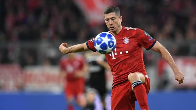 Robert Lewandowski ist mit dem FC Bayern in der Champions League gefordert