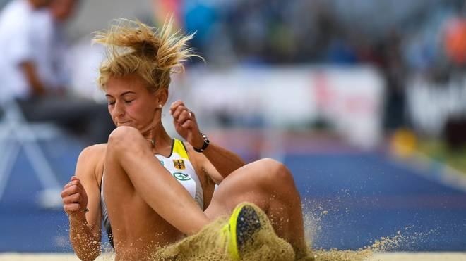 Kristin Gierisch hat in Garbsen einen neuen deutschen Dreisprung-Rekord aufgestellt