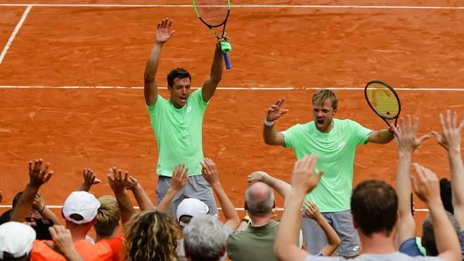 Andreas Mies (l.) und Kevin Krawietz feierten den Finaleinzug