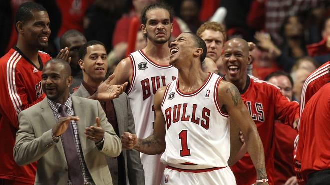 Miami Heat v Chicago Bulls - Game One: Derrick Rose