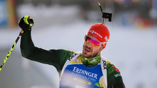 Arnd Peiffer holte die vierte Podestplatzierung der deutschen Biathleten in diesem Winter