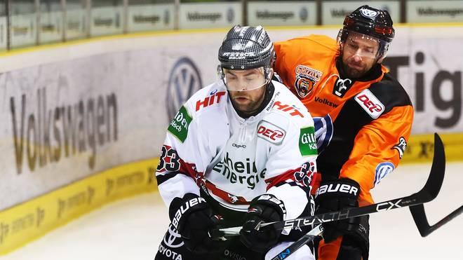 Fredrik Eriksson (l.) machte bisher 323 DEL-Spiele