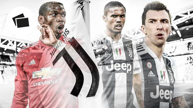 Kehrt Paul Pogba (l.) zu Juventus Turin zurück, könnten Douglas Costa und Mario Mandzukic weichen