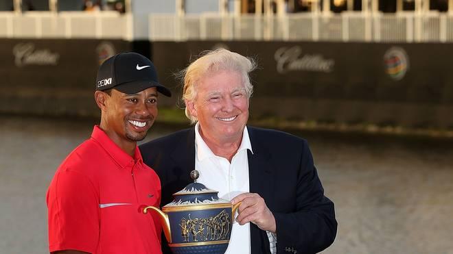 Donald Trump (r.) und Tiger Woods teilen die Leidenschaft für Golf