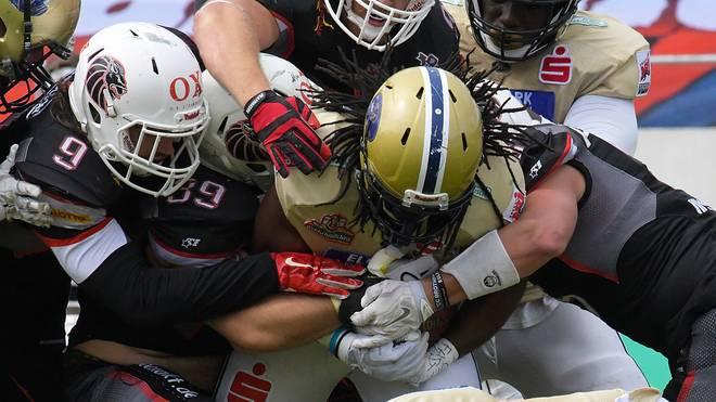 Im GFL-Spitzenspiel will die Defense der New Yorker Lions wieder zuschlagen
