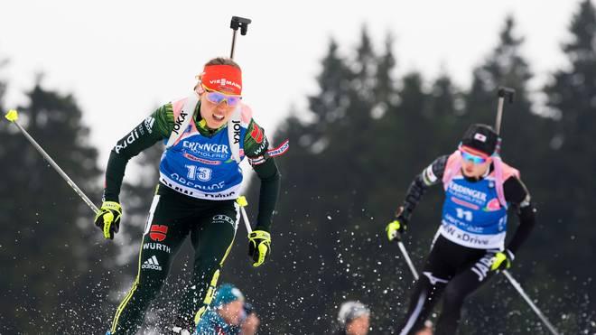 Laura Dahlmeier gewann in der vergangenen Saison des Biathlon-Gesamtweltcup