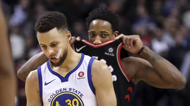 Steph Curry kommt gegen die Toronto Raptors auf 24 Punkte