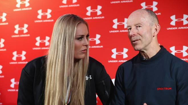 Ski-WM: Lindsey Vonn wird nach Abfahrt von Ingemar Stenmark verabschiedet