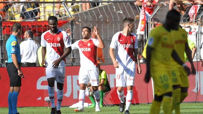 Radamel Falcao erzielte den dritten Treffer für Monaco in Nantes