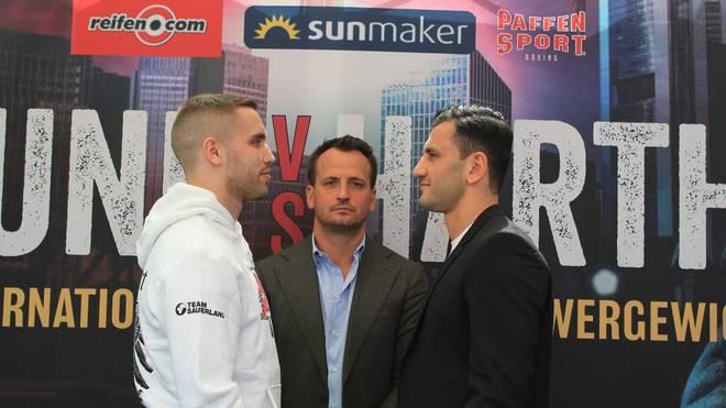 Leon Bunn (l.) und Leon Harth (r.) kämpfen am Samstag um den IBF International Titel