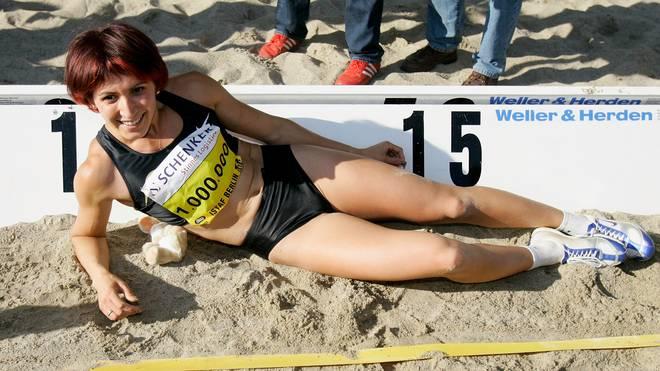 Tatjana Lebedewa war eine erfolgreiche weit- und Dreispringerin