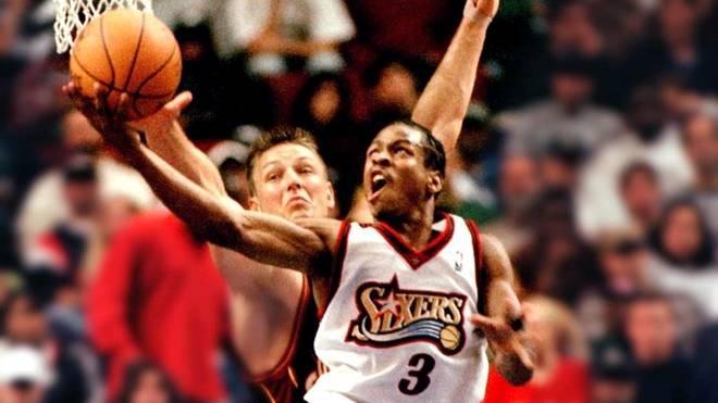 Allen Iverson von den Philadelphia 76ers in der NBA