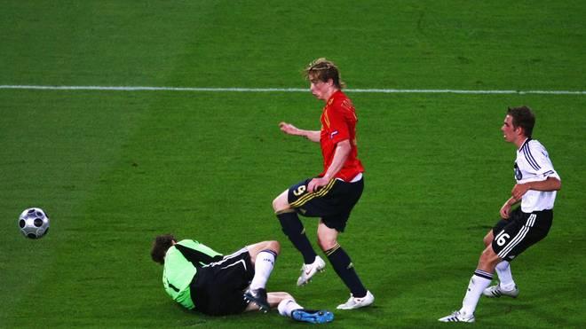 Gegen Fernando Torres hatten bei der EM 2008 Jens Lehmann und Philipp Lahm das Nachsehen