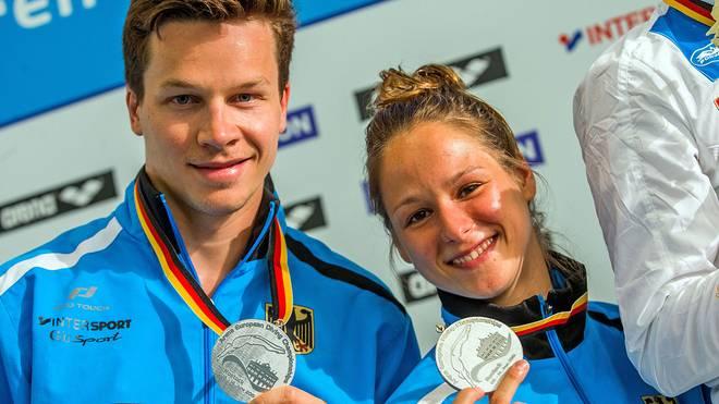 Patrick Hausding und Maria Kurjo