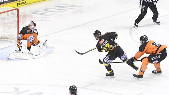 Jacob Bergland erzielte vier Tore für die Krefeld Pinguine