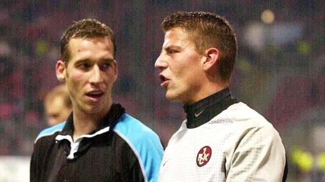 Roman Weidenfeller im Jahr 2001 mit dem späteren FCK-Trainer Jeff Strasser