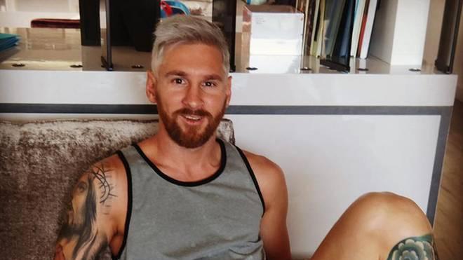 Lionel Messi Mit Neuem Look Weltfußballer Trägt Blonde Haare