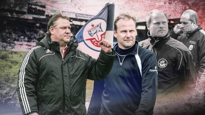 Frank Pagelsdorf (l.) hält Martin Pieckenhagen (2.v.l.) für eine gute Wahl. Rene Rydlewicz (2.v.r.) und Stefan Beinlich waren schon in Hansas Führung tätig
