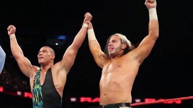Jason Jordan (l.) und Matt Hardy waren bei WWE 2017 kurz Partner