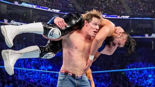 John Cena (hier gegen Andrade Almas) soll bei WWE WrestleMania 35 auf Lars Sullivan treffen