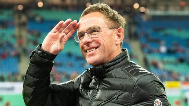 Leipzig-Trainer Ralf Rangnick hat derzeit gut lachen